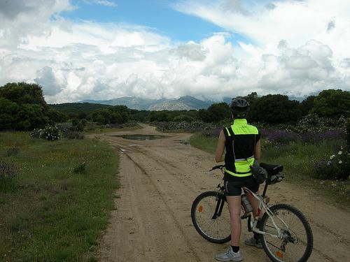 Menú de rutas bicicleteras