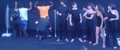 Teatro-foro contra los CIEs en Madrid
