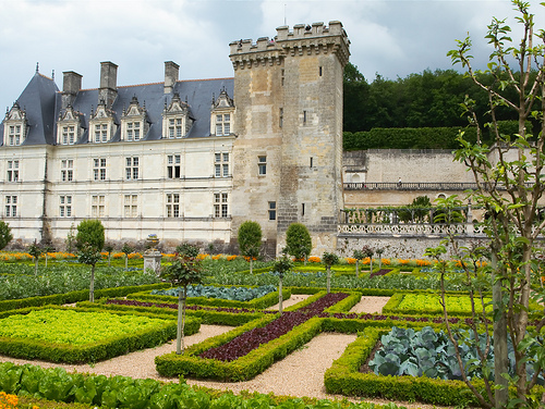 La huerta ajardinada del castillo de Villandry