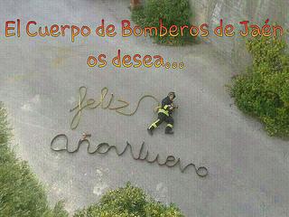El Cuerpo de Bomberos de Jaén os desea feliz año nuevo