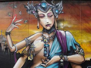 Graffiti en Jaén: diosa urbana