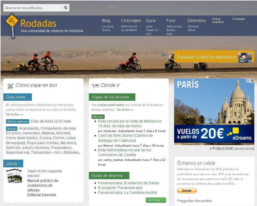 Rodadas, una comunidad de cicloviajeras y cicloviajeros