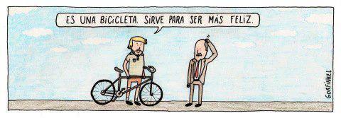 Es una bicicleta. Sirve para ser más feliz