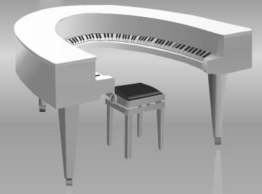 ¡Un teclado circular! Notas curiosas sobre la evolución del piano