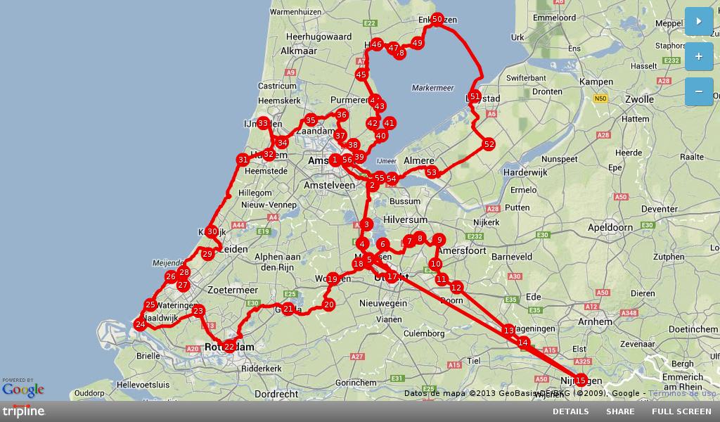 Holanda en bici: ¿qué recorrido hemos hecho?