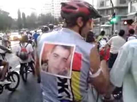 Bicimanifestación homenaje a ciclista asesinado en Tetuán (Madrid)