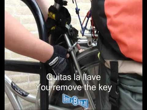 Quita y pon un candado a tu bici en 8 segundos