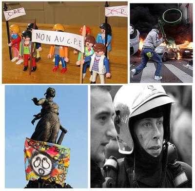 Mirando a las protestas en Francia desde Flickr