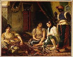 Delacroix en un harén argelino