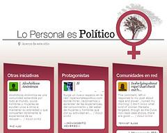 'Lo personal es político', planeta de blogs feministas