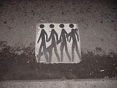 Sensibilización peatonal sobre la pintura de la calzada