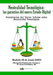 Presentación del informe sobre Neutralidad Tecnológica en Madrid
