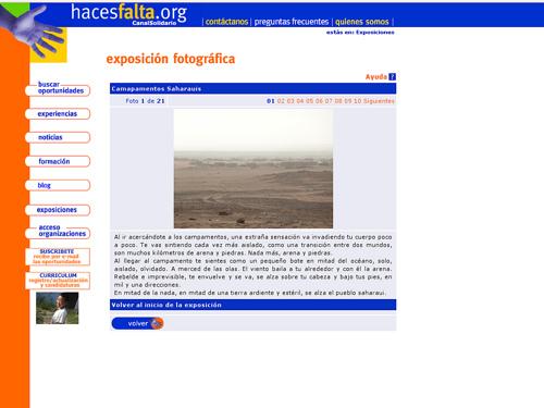 Cómo cambiaría la sección de exposiciones de Haces Falta