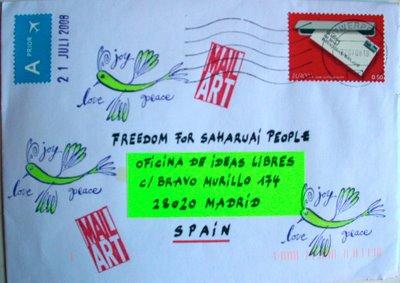 Arte postal por un Sahara libre
