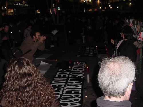 Concentraciones empalmadas en Madrid contra la invasión de Gaza
