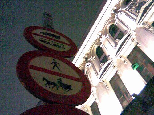 Prohibida la circulación de carros
