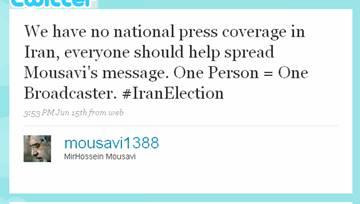 Las elecciones iraníes, el intercambio de información y Twitter