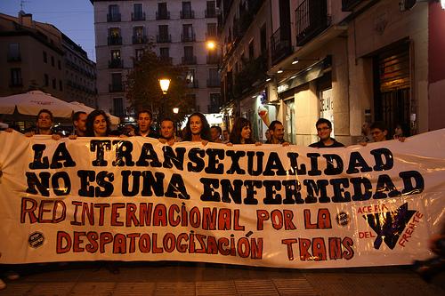 Manifestación para que borren la transexualidad de los manuales de enfermedades mentales