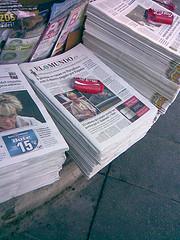 La orientación de la prensa en el kiosco
