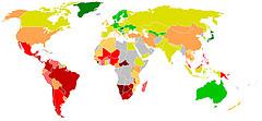 El desigual reparto de la riqueza por país