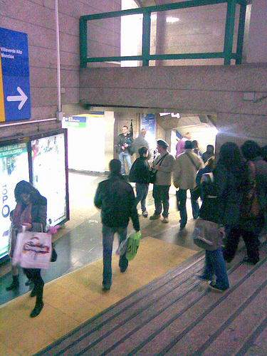 Gaita en el metro