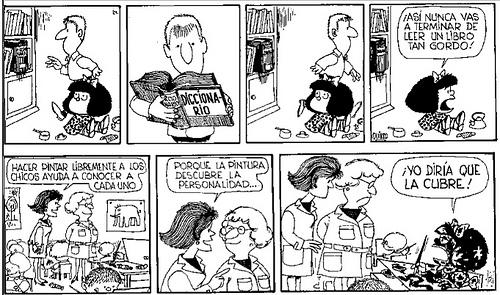 Las ladies leen viñetas de Mafalda
