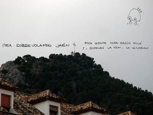 Idea sobrevolando Jaén