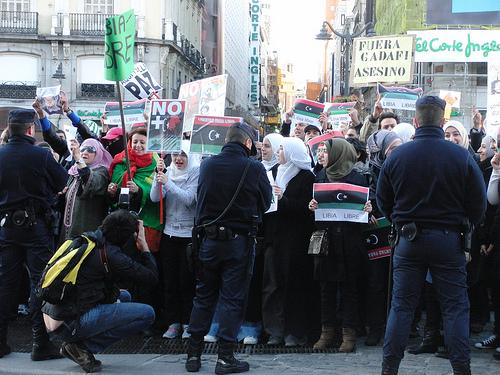 Concentración de apoyo a Libia en Madrid