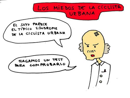 Los miedos de la ciclista urbana
