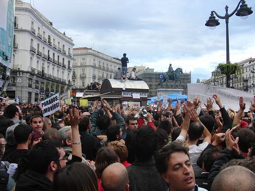 Concentración en Madrid por una democracia real (jueves 19)