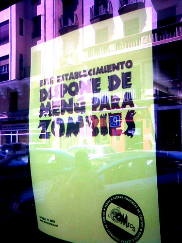 Menú para zombies