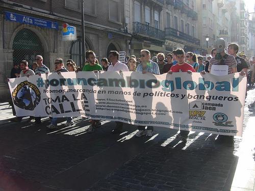 Momentos del 15O por el cambio global en Jaén #jaen15o