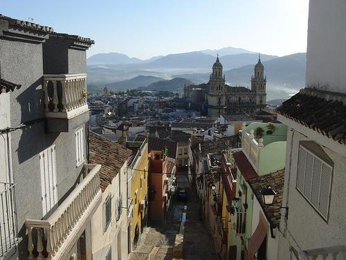 Jaén desde el mirador sobre la calle Duque