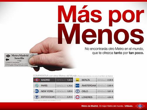 La objetividad que engaña: contrapublicidad para Metro de Madrid