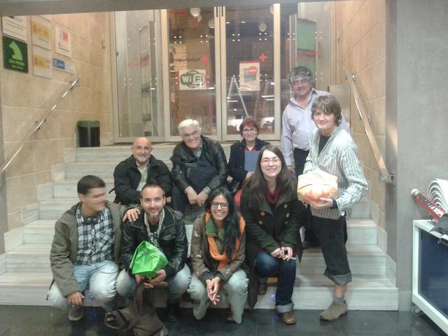 Foto de grupo con La Comuna y Masticable
