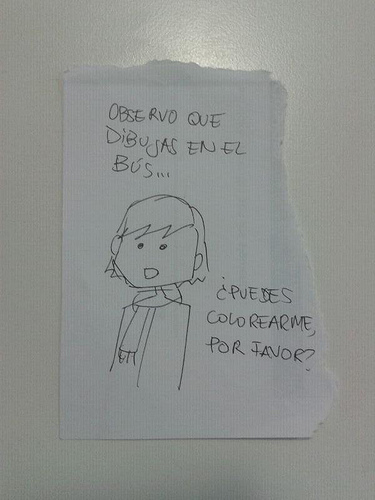 """""""Observo que dibujas en el bus"""""""