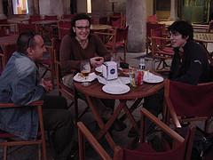 Cenando con Andrés y Fran: software libre, blogs, cooperación y teoría de conjuntos