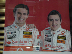 Un buen equipo: Fernando Alonso, Flipe y yo