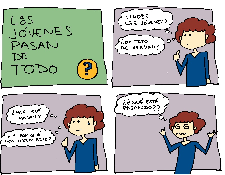 "Viñeta: ""Lxs jóvenes pasan de todo"""