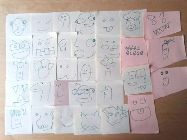 Ideas infinitas #19: 32 caras dibujadas en 5 minutos