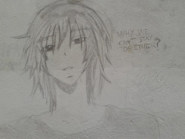 Graffiti estilo anime en #Tetuán