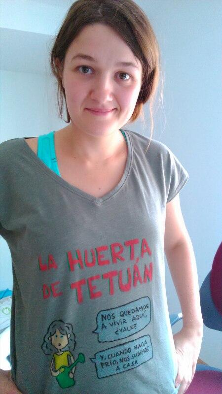 Taller casero de decoración de camisetas: motivo hortelano