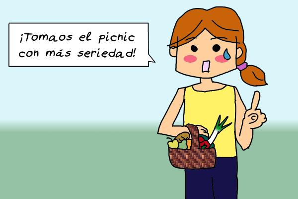Viñeta - Tomaos el picnic con más seriedad