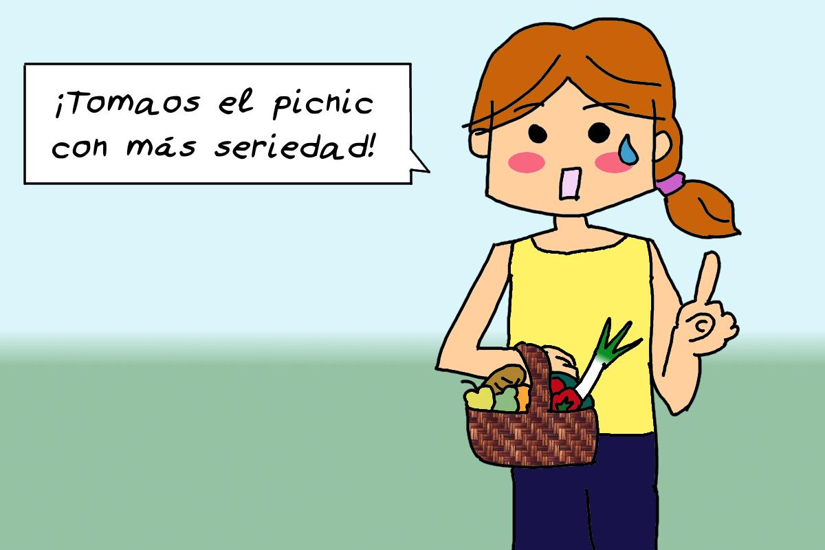 """Viñeta: """"Tomaos con más seriedad el picnic"""""""