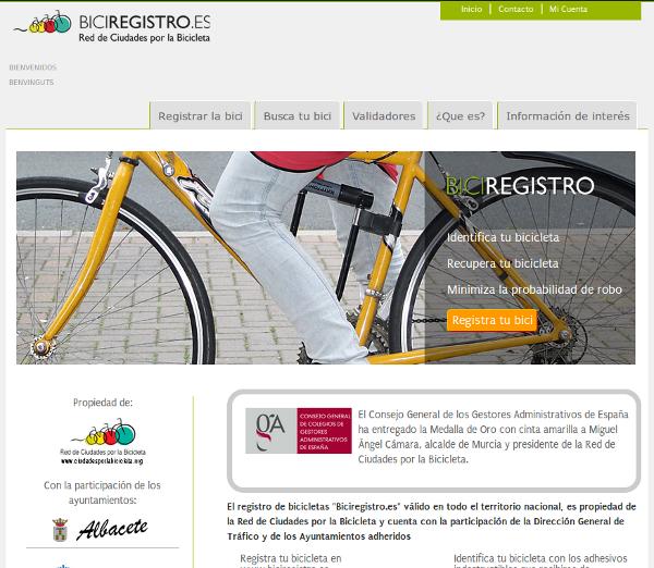 Biciregistro, registra tu bici para recuperarla o evitar robos