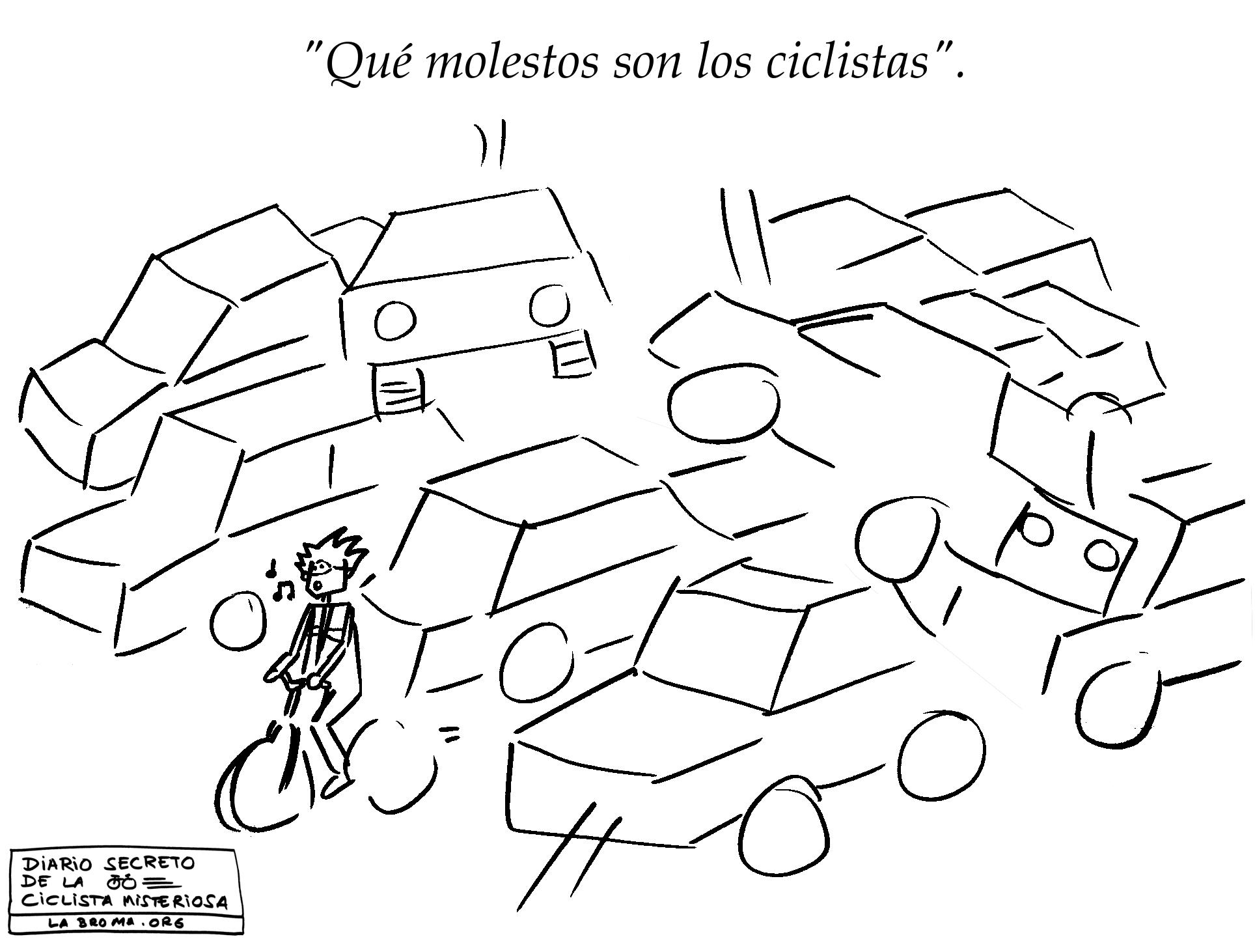 """""""Qué molestos son los ciclistas"""""""