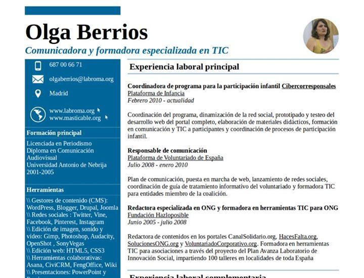 foto CV olga berrios