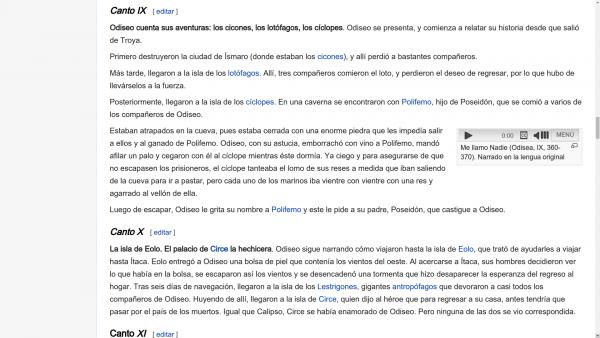 Captura de pantalla - odisea en wikipedia