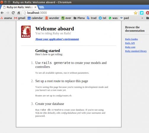 Una vez creado el proyecto y arrancado el servidor, ya tienes una web de ejemplo funcionando en local