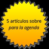 logro - 5 artículos en agenda